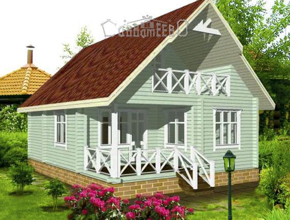 Дом из бруса ОД-03