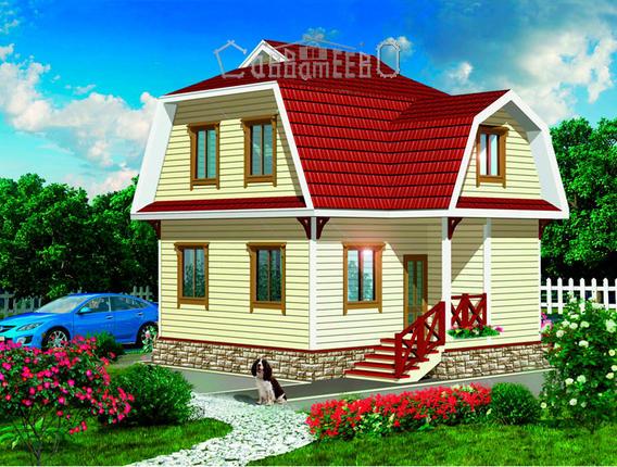 Дом из бруса с мансардой Э-17