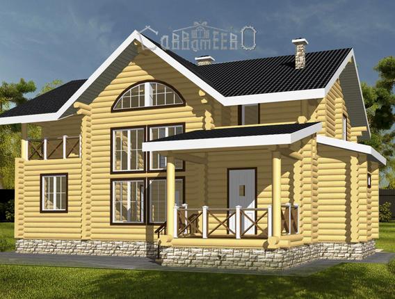 Дом из оцилиндрованного бревна О-116