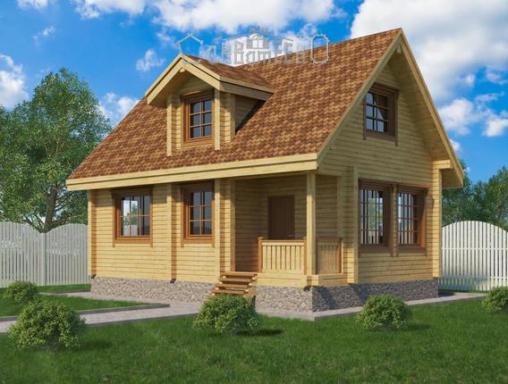 Дом из бруса с мансардой Э-13