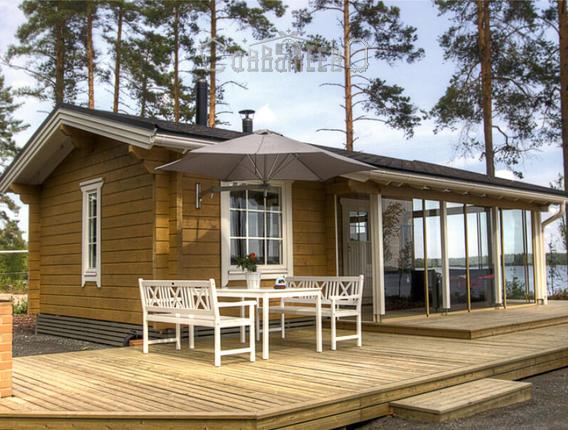 Деревянный дачный дом из бруса 8,2х9,2м ОД-07