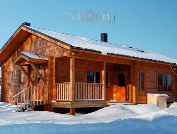 Одноэтажный дом 8,5х9,5 из профилированного бруса ОД-13