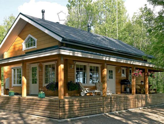 Дом из профилированного бруса размером 10х11,5 метров ОД-14