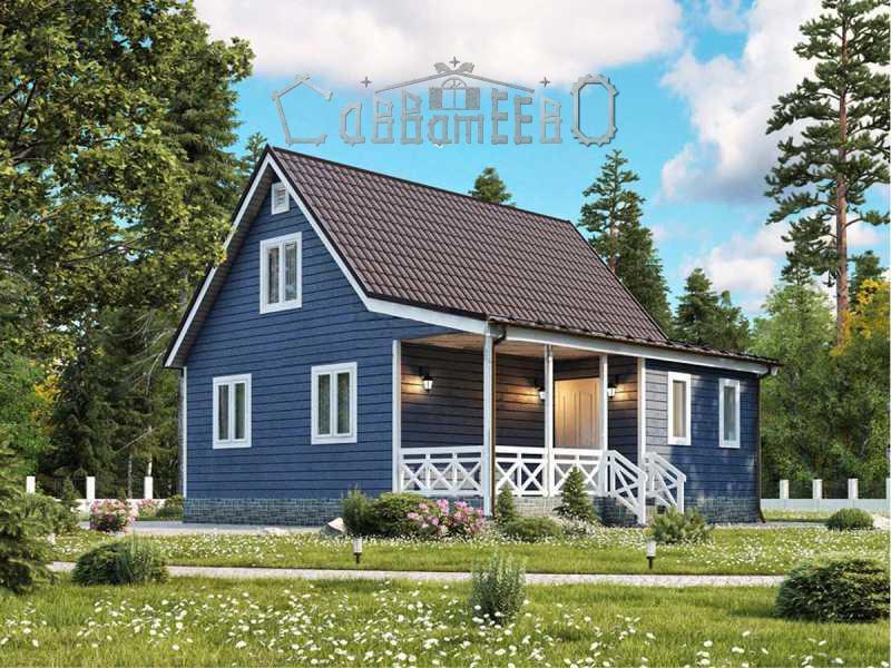 Дом из бруса  6х9 с мансардой Э-06