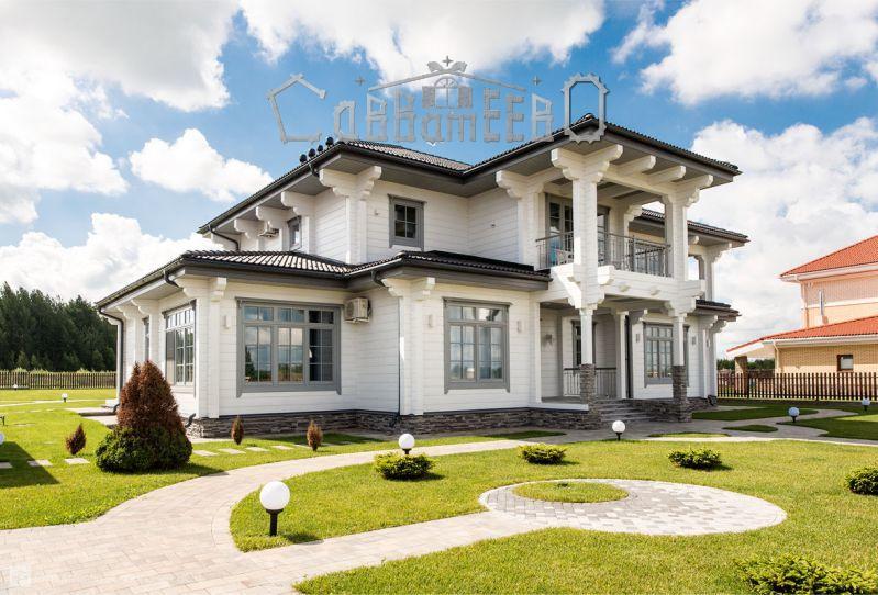 Дом из бруса с мансардой Б-232