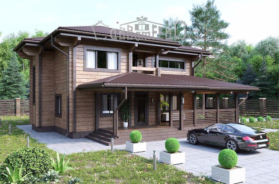 Дом из бруса с мансардой Б-208